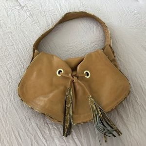 Zina Eva, Butter-soft, real-leather shoulder bag.